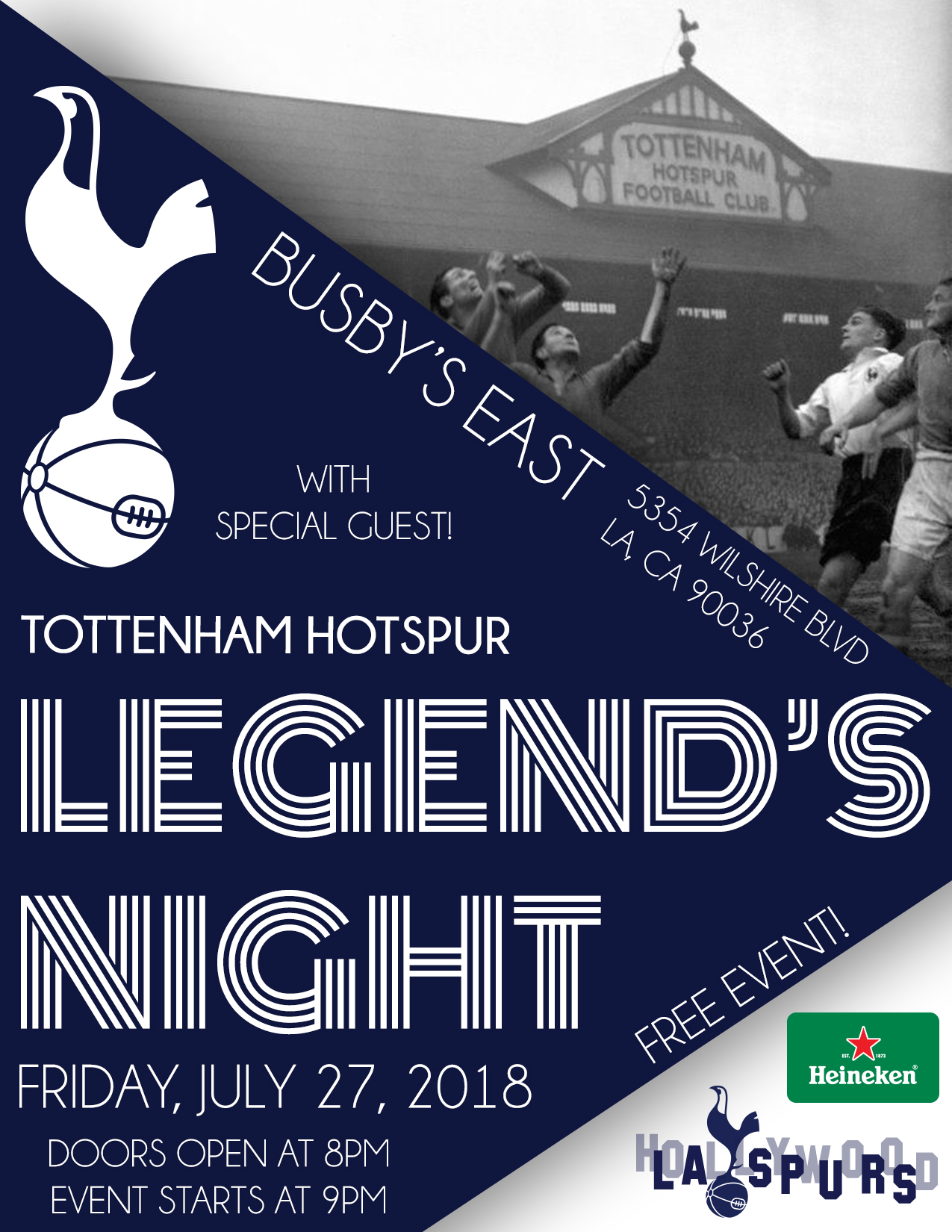 LEGEND'S NIGHT: Los Angeles Spurs Supporters' Club Evening. *LEDLEY KING & DARREN ANDERTON*