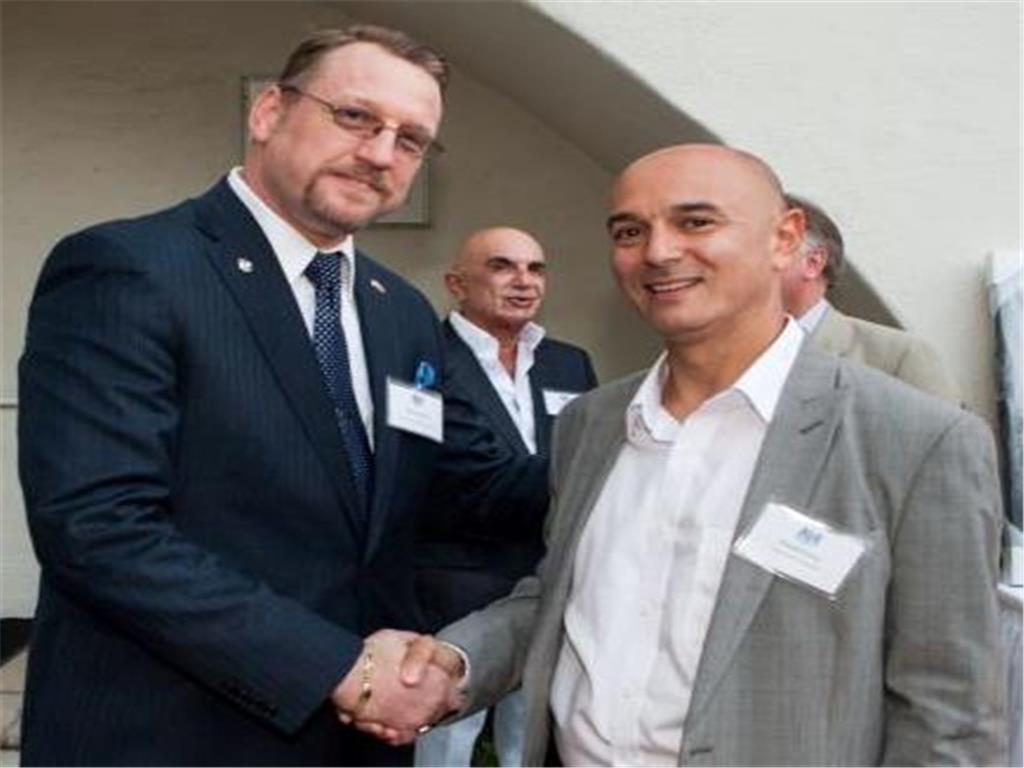 LA Spurs Co-Founder/Treasurer - & Board Member, Rolfe Jones with Daniel Levy - Chairman of Tottenham Hotspur