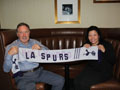 Keith Burkinshaw, THFC legend and L.A. Spurs' Kate