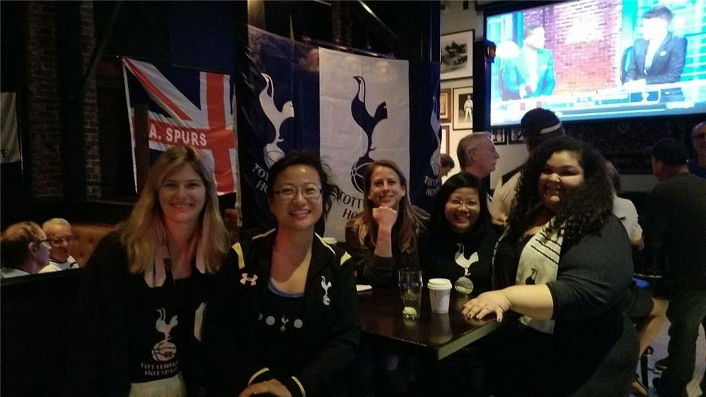 All-star! LA Spurs Yidettes attending a 4.30am away game vs. West Ham.