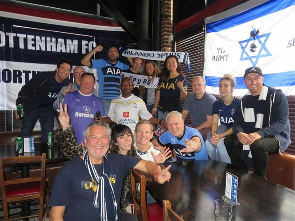 60 ultra fans were at Stoke vs Tottenham viewing party at the Greyhound Bar & Grill in Los Angeles