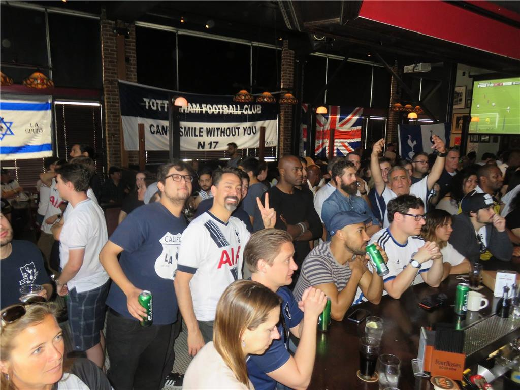 Over 150 Supporters at the Greyhound Bar & Grill. Tottenham vs Manchester City.