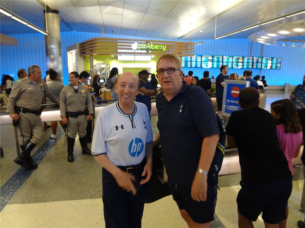 L.A. Spurs Chairman Brian Moore and long time Tottenham supporter Michael Dickson