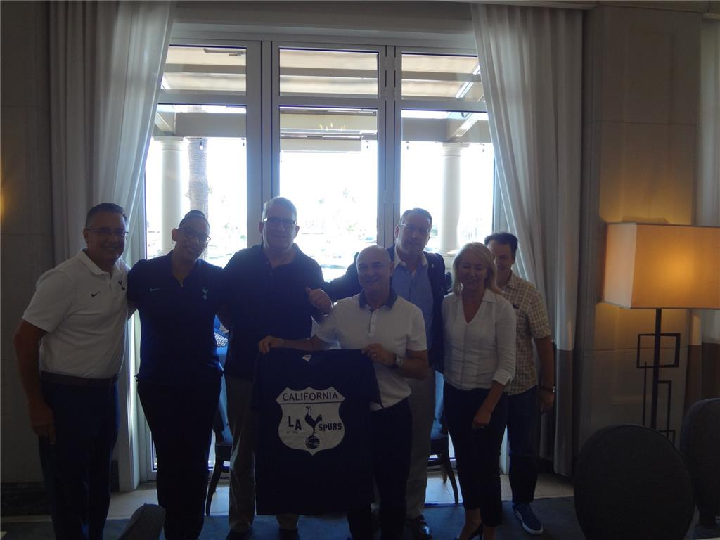 THFC Chairman Daniel Levy and THFC Executive Director Donna Marie-Cullen with L.A. Spurs Board Of Directors