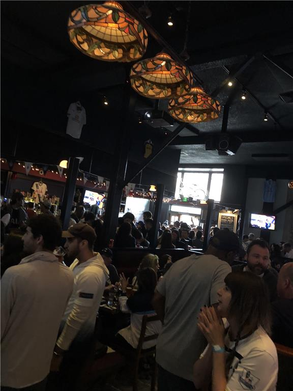 The Greyhound Bar and Grill were at full capacity on Champions League Final