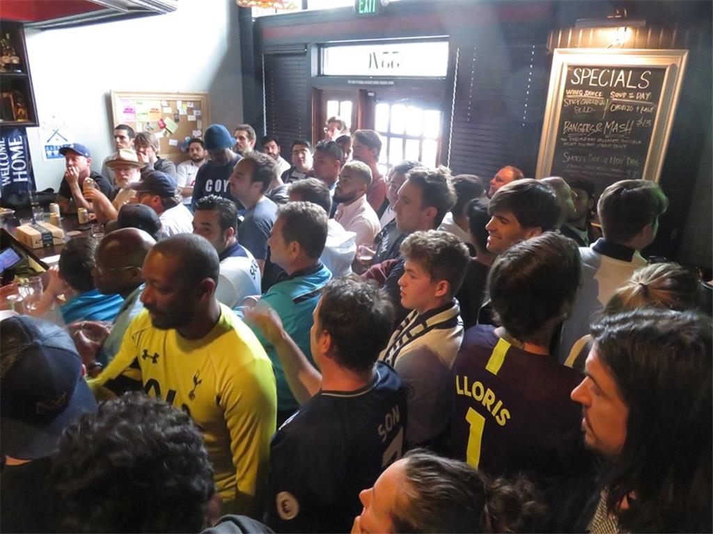 We're in Champions League Final! Full capacity of 225 supporters witness Tottenham defeated Ajax at The Greyhound Bar & Grill.